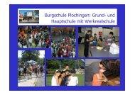Vorstellung der Hauptschule - Burgschule Plochingen