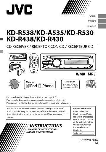 kd r521 kd r422 jvc mobile in car entertainment rh yumpu com JVC Radio Wiring JVC KD R520 Wiring-Diagram