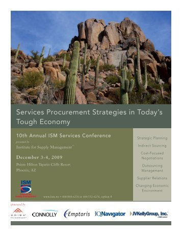 10th Annual ISM Services Conference - December 2009 (revised ...