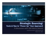 Strategic Sourcing: Tools & Tips to