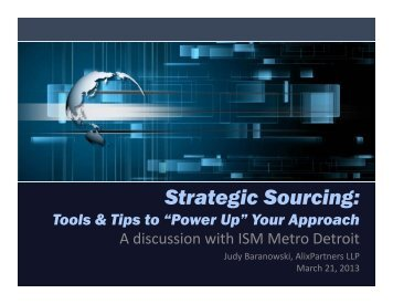 "Strategic Sourcing: Tools & Tips to ""Power Up"" Your Approach"