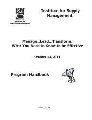 Program Handouts