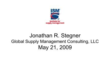 Supplier Relationship Management and Supplier Risk Management
