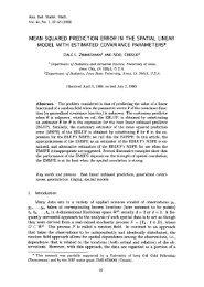 Mean squared prediction error in the spatial linear ... - ResearchGate