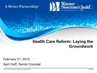 Health Care Reform: Laying the Groundwork