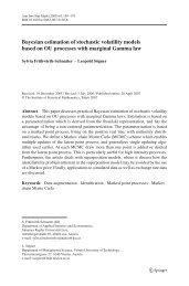 Bayesian estimation of stochastic volatility models based on OU ...