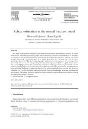 Robust estimation in the normal mixture model