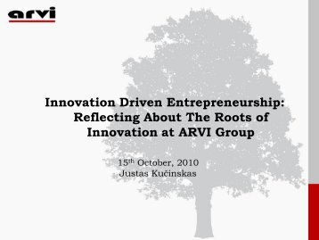 Reflecting About The Roots of Innovation at ARVI Group