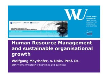 Human Resource Management and sustainable organisational growth