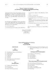 Gesetzblatt 11/2006 - beim Ministerium des Innern,für Sport und ...