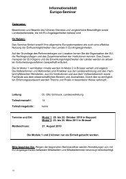 Informationsblatt Europa-Seminar