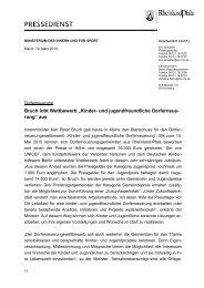 Pressemeldung Dorferneuerungswettbewerb - beim Ministerium des ...