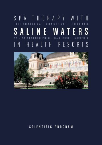 Saline WaterS - International Society of Medical Hydrology and ...