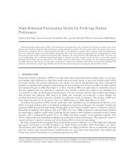Multi-Relational Factorization Models for Predicting Student ... - ISMLL