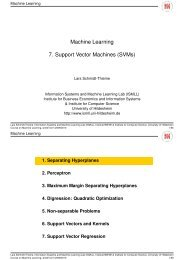 Machine Learning 7. Support Vector Machines (SVMs) - ISMLL
