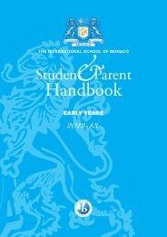 Handbook Early Years - The International School of Monaco