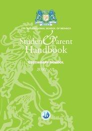 Handbook Secondary - The International School of Monaco