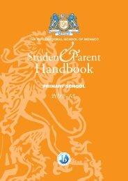 Handbook Primary - The International School of Monaco