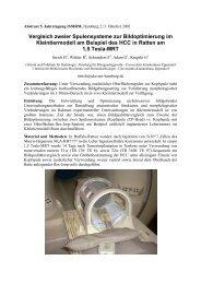 Vergleich zweier Spulensysteme zur Bildoptimierung im ...
