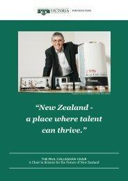 Paul Callaghan Chair Prospectus - Victoria University of Wellington