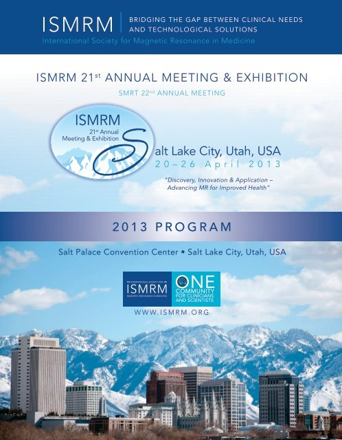 2013 Program Alt Lake City Utah Usa Ismrm