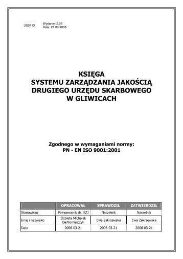 księga systemu zarządzania jakością drugiego urzędu skarbowego