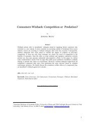 Consumers Winback: Competition or Predation? - International ...