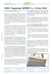 03500 Treppenlager ISOTREPP, ∆L = 24 bzw. 28 dB - HBT-ISOL AG