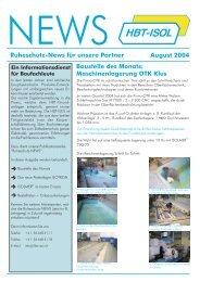 Ausgabe August 2004-Korrektur... - HBT-ISOL AG