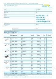 Liste de commande - HBT-ISOL AG