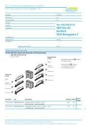 Bestellliste - HBT-ISOL AG
