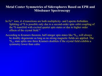 siderophors - Mössbauer Spectroscopy (pdf)