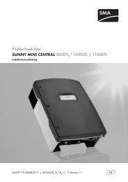 Sunny Mini Central - Installationsanleitung - Die Lichtschmiede