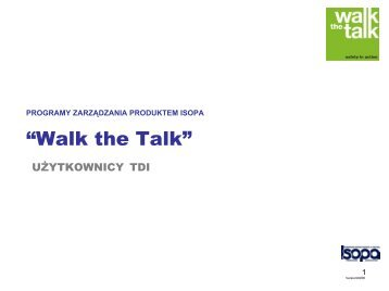 """How to use the Isopa """"Walk the Talk"""" package"""