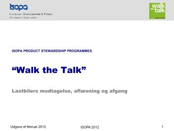 """How to use Isopa """"walk the talk"""" package"""