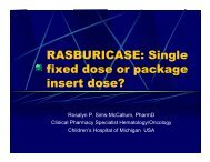 RASBURICASE: Single fixed dose or package insert dose?