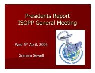 Annual General Meeting Presidents Report - International Society of ...