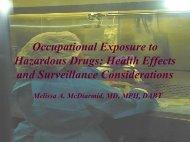 Melissa McDiarmid - International Society of Oncology Pharmacy ...