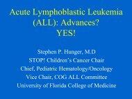 Acute Lymphoblastic Leukemia (ALL): Advances? YES!