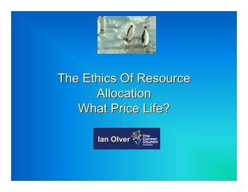 The Ethics Of Resource Allocation What Price Life?