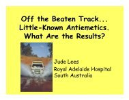 Off the Beaten Track... Little-Known Antiemetics. What Are the Results?