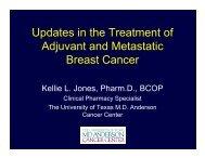 Adjuvant and Metastatic Breast Cancer - International Society of ...