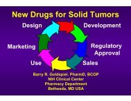 New Drugs and New Indications for Old Drugs in Oncology