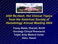 American Society of Hematology Meeting Rehash Slides