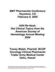 American Society of Hematology Rehash Meeting Summary Notes