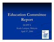 Annual General Meeting Education Committee Report