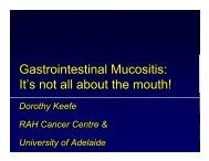 Gastrointestinal Mucositis: It's not all about the mouth!