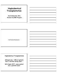 Haploidentical Transplantation