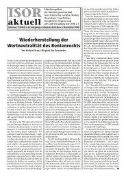 ISOR aktuell Ausgabe 11 /2008
