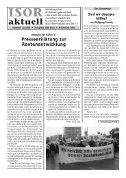 ISOR aktuell Ausgabe 11 / 2003 Seite 1 - 3